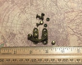 Swing clasp, Steampunk or Victorian bag clasp antique bronze, Box or cabinet latch