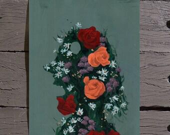 Flower Head #3 (Acrylic on Canvas Paper)