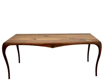 "Modern Desk, Mid Century Desk, Mid Century Modern Desk, Sculpted Desk, Carved Desk, Modern Table, ""The La Brea Desk"""