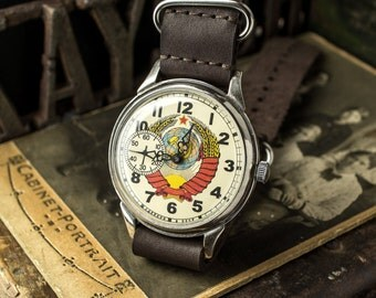 Russian watch Molnija,  soviet watch Men's, watch USSR Working Molnia, Soviet military, gift for him