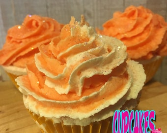 Peaches N Cream Cupcake Bath Bomb
