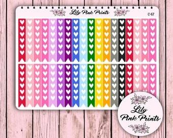 36 Colourful Heart Checklist Stickers C-67 - Perfect for Erin Condren Planner Stickers