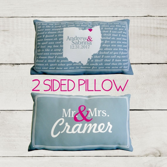 Personalized Pillows For Wedding Gift: Personalized Pillow Song Lyrics Pillow Unique Wedding Gift For