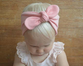Baby Girl Headbands - Petal Pink Baby Headband - Baby Knotted Headbands - Newborn Headbands - Baby Head Wrap - Baby Headbands - Baby Bows