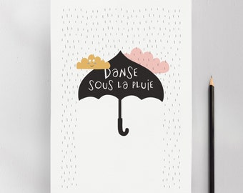 Don't Let Storm Get You Down, Modern Nursery Kids Wall Art Print