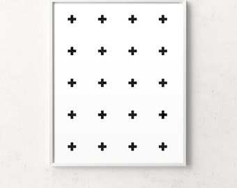 Swiss cross design, swiss cross print, affiche scandinave, minimalist cross, scandinavian poster, cross print, cross poster, black cross