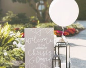Painted welcome wedding sign, Modern Welcome Sign, Modern wedding sign, Wedding sign, Custom color wedding sign, Modern calligraphy
