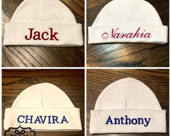 Personalized Newborn Baby Hat