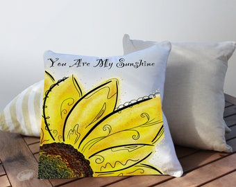 You Are My Sunshine Pillow, Outdoor Chair Cushions, Patio Furniture Cushions, Sunbrella Outdoor Pillows, Sunshine Outdoor Pillow