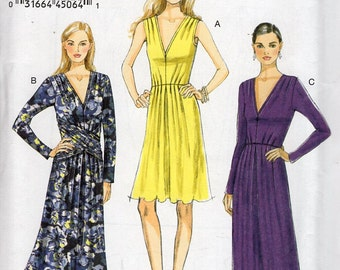 Vogue 8921 Free Us Ship Sewing Pattern Draped Dress Evening Length Size 6/14 14/22 Bust 30 31 32 34 36 38 40 42 44 46  Uncut Out of Print