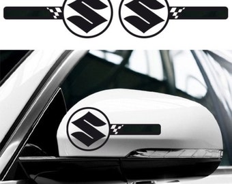 2x SUZUKI Custom Wing Mirror Side Body Decals Graphics Stickers - Swift Sport Baleno Vitara Jimny Grand Ignis Celerio - for All Models