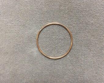 25mm Gold Filled OD 19ga Large Ring, 12/20 GF