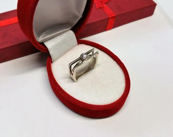 18.4 mm ring 925 Silver crystal design noble SR817