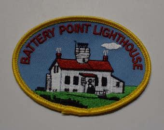 Vintage Battery Point Crescent City Patch
