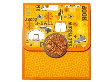 Basketball Gift Card, Thank You Coach, Coach Gift, Sports Money Holder, Basketball Gift Card Holder, Thank You Gift, Handmade Birthday Gift