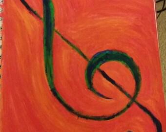 Treble Clef Painting
