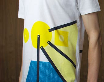 Abstract Screen Printed T-shirt - Reiteration 1