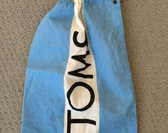 TOMS Shoes Canvas Drawstring Bag