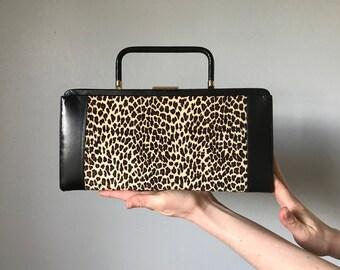 Vintage Leopard Print Clutch