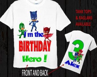 PJ Mask Birthday Shirt - PJ Mask Shirt - Tank Top Available
