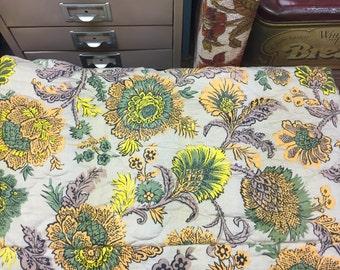 Vintage Bedspread Blanket Twin Floral