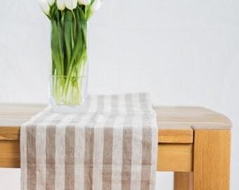 Natural linen table runner, rustic linen table runner, long linen table runner, natural linen table runner, custom length