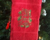 Christmas Carol Towel Terry Cloth