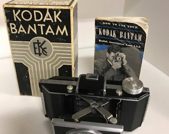 Kodak Bantam Orignal Box and Instructions! RARE FIND! in Perfect Condition!