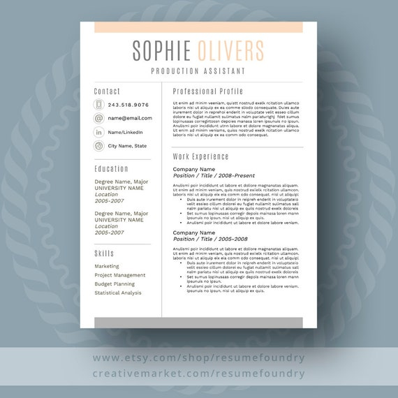 stylish and modern resume template 1 3 page resume cover