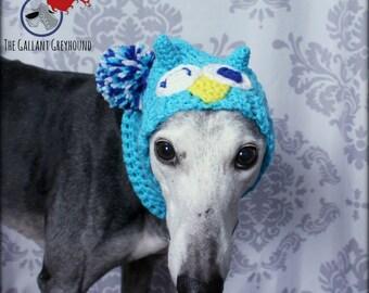 Owl Snood with Pom Pom for Greyhounds