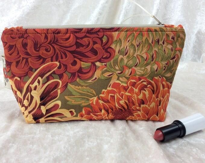 Japanese Chrysanthemum Zip Case Bag Pouch fabric Kaffe Fassett Collective design Handmade in England