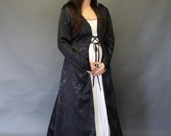 Winterfell; Medieval Gown; petite; black self-embossed; WIN#77