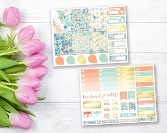Under The Sea mini weekly stickers kit | Erin Condren vertical stickers | Weekly planner stickers | Mini weekly planner kit