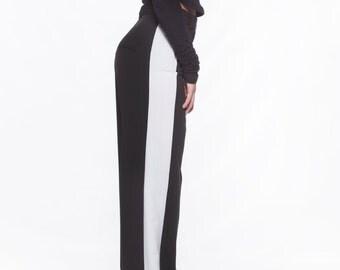 Wide Leg Pants, Monochrome Pants, Casual Pants, Womens Sweat Pants, Black Tracksuit, High Waist Pants, Loose Trousers, Black Trousers