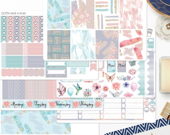 Planner Stickers Pastel Explosion Weekly Kit for Erin Condren, Happy Planner, Filofax, Scrapbooking