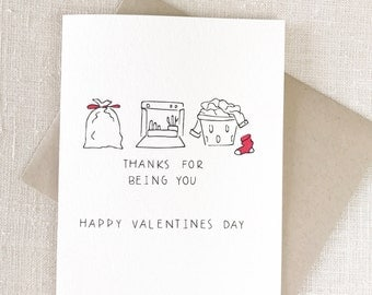 Funny Valentines Day Card, Valentine's Day card for boyfriend, Valentine's Day card for him, Valentine's Day card for girlfriend, BEING YOU