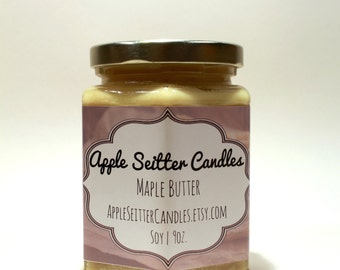 All Natural Maple Butter Soy Candle