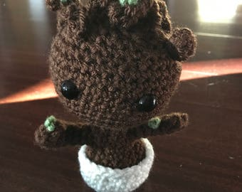 Crochet Guardians of the Galaxy Inspired Groot Toy, Plushie, Doll, Amigurumi