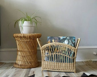 Wicker Magazine Rack, Rattan Magazine Rack, Record Storage, Book Rack, Magazine Holder, Magazine Storage, Magazine Stand, Magazine Organizer