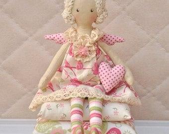 Princess On The Pea, Cloth Doll, Handmade Doll, Art Doll, Handmade Doll , Fabric Doll, Soft Doll, Rag Doll