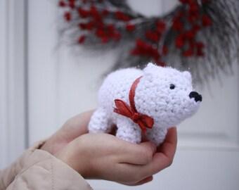 Amigurumi stuffed crochet polar bear