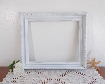 Large Rustic White Shabby Chic Distressed Picture Frame 12.75 x 15.75 Photo Wedding Reception Country Farmhouse Home Decor Gift Her