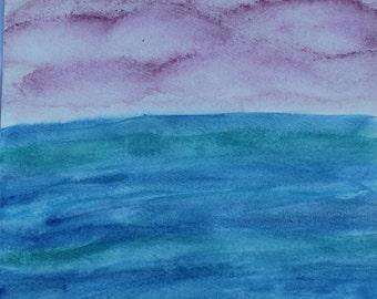 7:46 pm Watercolor Print