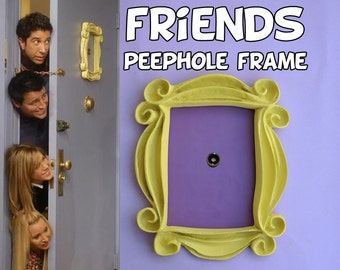 FRIENDS tv show friends peephole frame friends door frame marco friends frame marco rahmen cadre door decor wall decor best friend gift mom