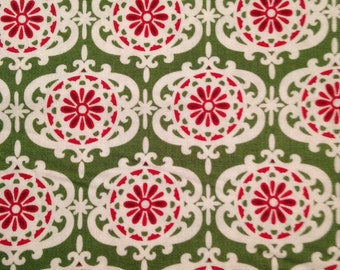 Red and Green Design by Anna Griffin, Christmas Kitsch Collection, 100% Cotton