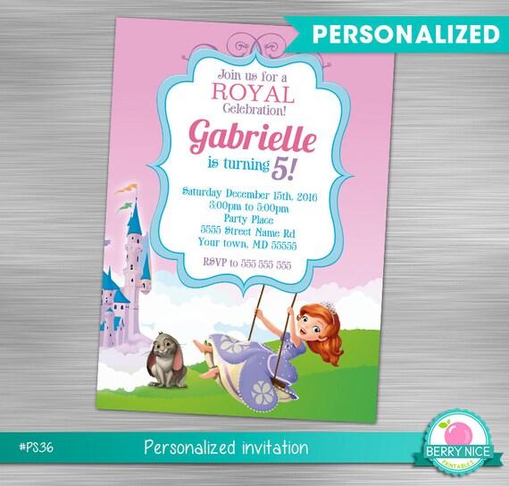 Sofia the first invitation print yourself princess birthday sofia il570xn solutioingenieria Images