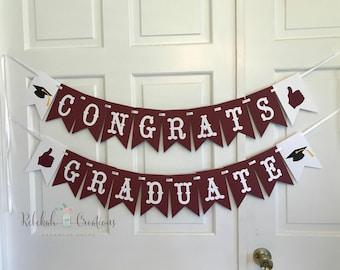 Texas A&M Congrats Graduate Banner, Congrats Banner,  Aggie Graduation Banner, Texas Aggie Banner, Congrats Graduate Banner, Congrats