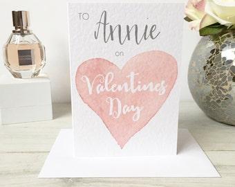 Valentine Card, Her Valentine Card, Girlfriend Valentine, Wife Valentine, Personalised Valentine's Day Card, Personalised Valentine's Card
