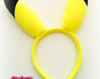 Pikachu Ears Headband - Pokemon Headband - Pickachu Headband - Birthday Party Favor or Birthday Gift - Soft Fabric, Fully Lined Headband