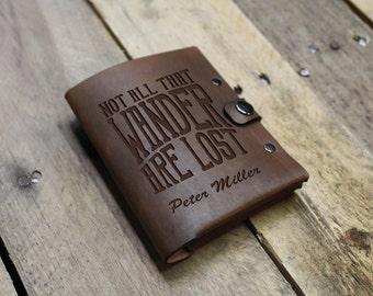 Genuine Leather Passport Wallet Sleeve, Personalized Passport Holder, Custom Passport Cover, Engraved Passport Case --PASS-DB-PeterMiller
